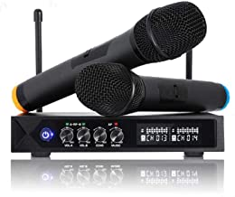 karaoke micro sans fil Bluetooth 4.1, HUF micros karaoké professionnel avec 2..