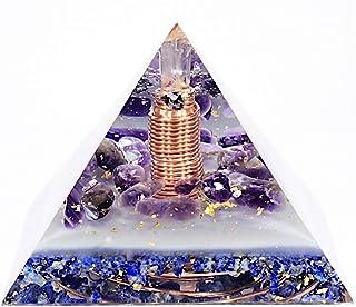 Orgonite Orgone Pyramid - Energy Generator - Infinite Income - Crystal Gemstone - Quartz Amethyst Lapis Lazuli Moldavite I...