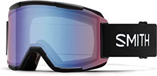Smith Optics Squad Adult Snow Goggles - Black/Blue Sensor Mirror/One Size