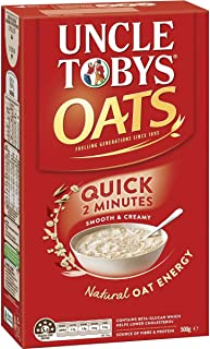 uncle tobys rolled oats nutrition information