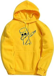 WearIndia Unisex Printed Cotton Hooded Hoodie