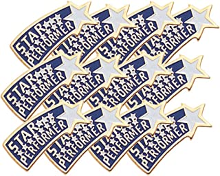 7/8 Inch Star Performer Lapel Pin - Package of 12, Poly Bagged