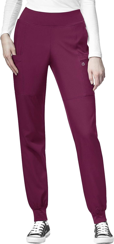 low-pricing WonderWink W123 Women's 5555 Comfort Waist Max 50% OFF 5X Pant Wine Jogger