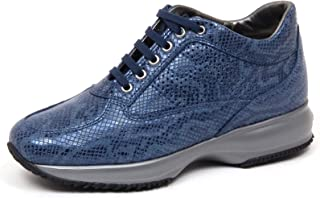 Hogan F2664 Sneaker Donna Blue Interactive Scarpe H Perforated Shoe Woman