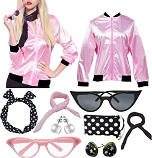 50'S Costume Party Lady Jacket with Scarf