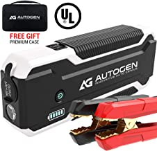 AUTOGEN Car Jump Starter PRO 3000A Peak (10.0L Gas & 8.5L Diesel), 12V Lithium Portable Jumper Pack for Cars, SUVs, Trucks. Large Power Pack with Quick Charge 3.0