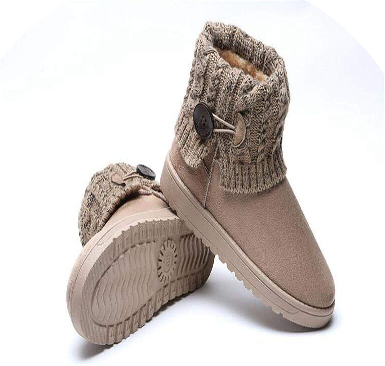 Women Boots Plus Cashmere Warm Fashion Winter Snow Boots lace Female Ankle Boots