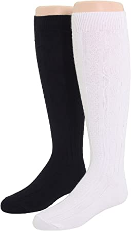 Jefferies Socks - 6-Pack Acrylic Cable Knee High (Toddler/Little Kid/Big Kid)