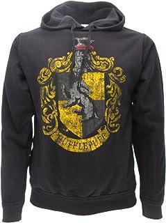 Harry Potter Sweat A Capuche Hoodie Blason POUFSOUFFLE Maison Hufflepuff - 100% Officiel Warner Bros