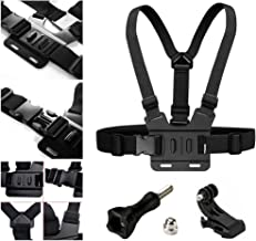 Adjustable Chest Strap Mount Elastic Action Camera Body Belt Harness with J Hook for GoPro HD Hero 5 4 3+ 3 GoPro 6 7
