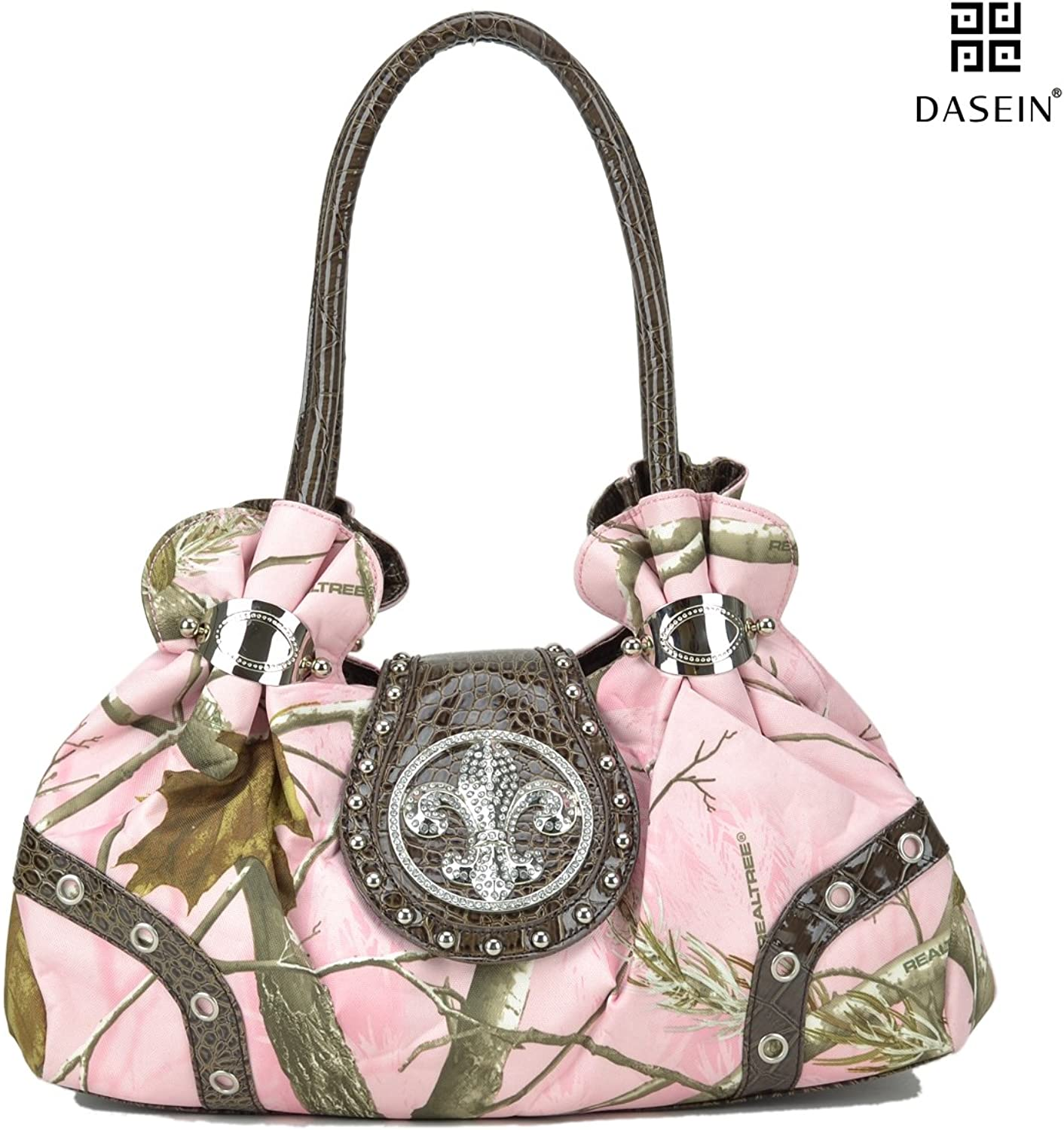 Dasein in Realtree Camouflage Purse Studded Shoulder Bag with Rhinestone