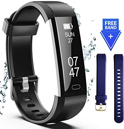 Wesoo Fitness Tracker, Fitness Watch Include Replacement Band, Activity Tracker Smart Band with Sleep Monitor, Smart Bracelet Pedometer Wristband for Kids, Women and Men