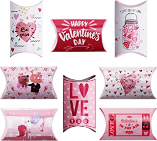 48Ct Valentine's Day Treat Boxes for kids - Valentine Candy Cookie Goody Bag Party Favors Supplies Giveaway