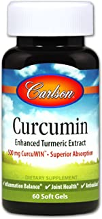 Curcumin with CurcuWIN, Carlson, Enhanced Turmeric Extract, Highly Bioavailable, Joint Health,...