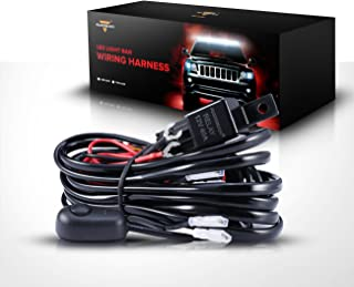 Auxbeam Led Light Bar Wiring Harness with 12V 40Amp Fuse Relay ON/Off Switch (2 Lead 2 Meter Universal)