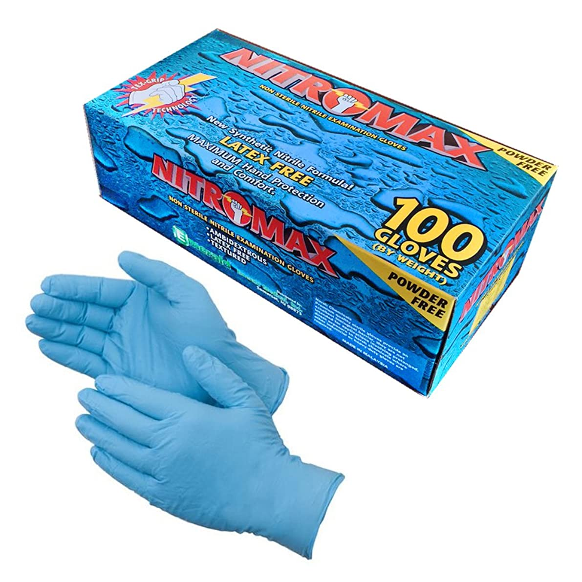 遺伝的徐々に差別化するDisposable Gloves, 5 mil thick, Tear Resistant, Latex Free, Nitrile, Powder Free, Large, 100 count by Honest E-tailers