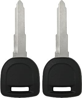 Keyless2Go New Uncut Replacement Transponder 80-Bit Ignition Car Key MZ24 MZ34 (2 Pack)