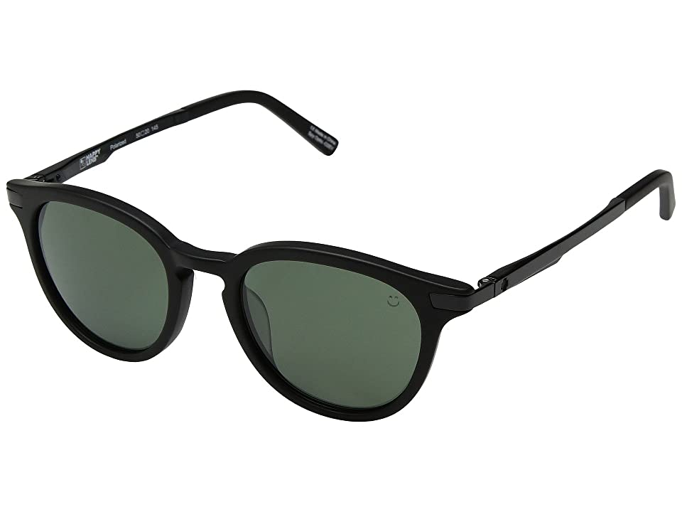 Spy Optic Pismo (Matte Black/Happy Gray Green Polar) Sport Sunglasses