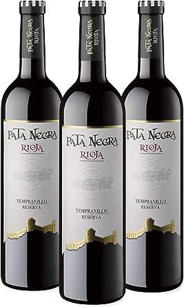Pata Negra Reserva - Vino Tinto D.O Rioja - Caja de 3 Botellas x 750 ml: Amazon.es: Alimentación y bebidas