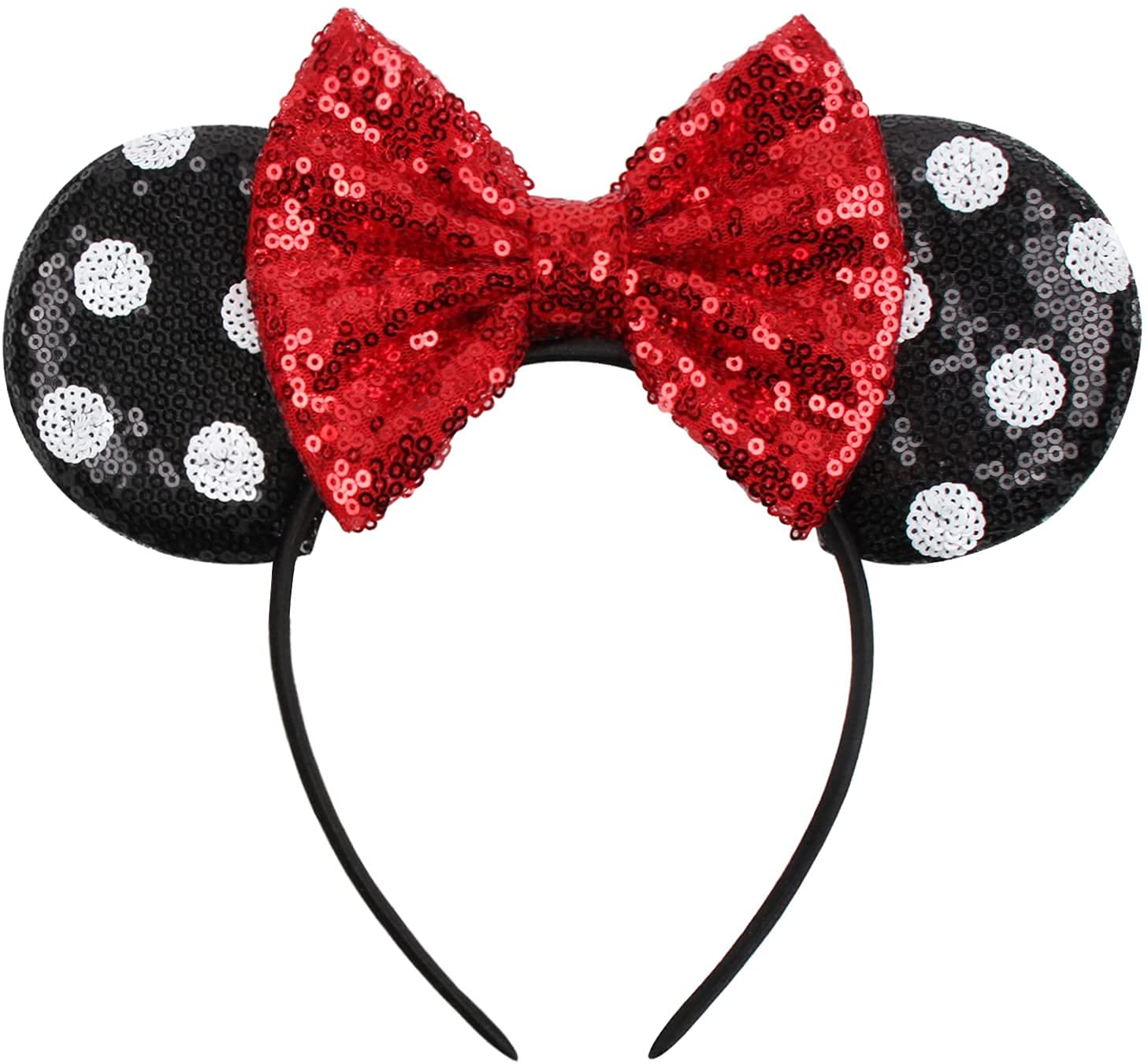 Mouse Ears Limited time sale Headbands with Bow Party Sequins and Cosplay Costume Sacramento Mall