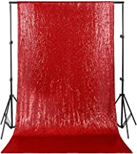 4ftx6.5ft Red Christmas Sequin Backdrop Curtain Glitter Backdrop Photography Photo Booth Backdrop for Wedding Party Birthday Prom Background
