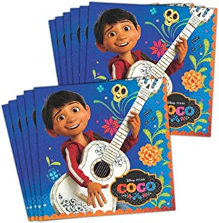BirthdayExpress Coco Party Supplies Lunch Napkin for 48