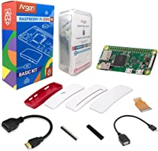 Argon Forty Raspberry Pi Zero W Basic Kit | Has WiFi and Bluetooth | Mini HDMI Audio-Video | Can Run Python 3 | NOT Included: Power Supply and Micro SD Card