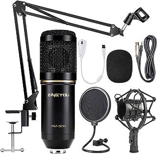 ZINGYOU Condenser Microphone Bundle, BM-800 Mic Set for Studio Recording & Brocasting..
