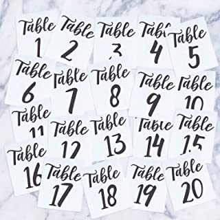 Vinyl Art Decal - Seating Chart Table Numbers 1-20 - 5