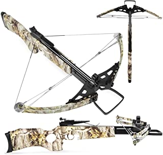 XtremepowerUS Crossbow 180 Lbs 300 fps Lightweight Hunting Equipment w/Carrying Bag, Camo