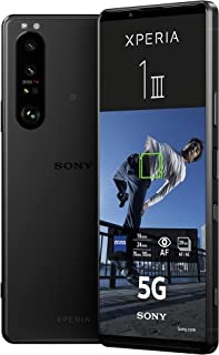 Sony Xperia 1 III 5G Smartphone (16,5 cm, 4K HDR OLED Display, Triple-Kamera System, Android 11 SIM free, 12 GB RAM, 256 GB Speicher, 24+6 Monate Herstellergarantie) [Amazon Exklusiv] Schwarz