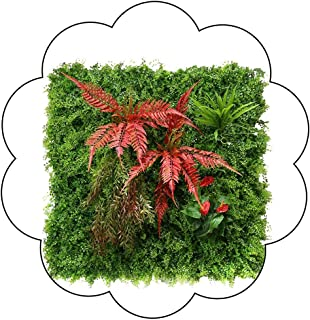 XEWNEG Artificial Plant Hedges, Green Boxwood Fence Privacy Screen Panels, UV Protection Faux Foliage Backdrop Wall Decor ...