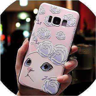 3D Cartoon Cat Emboss Case for Samsung Galaxy S6 S7 Edge S10 S10e S8 S9 A9 A8 A6 Plus A7 2018 A3 A5 2017 2016 A10 A40 Case TPU,S7 Edge,zihuamao