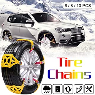 Car Tire Snow Chain Emergency Anti Slip Snow Tire Chains Winter Security Chains Tire Emergency Tire Chain for SUV Pickup Truck Ice Snow Muddy Road sweetyhomes Car Snow Chains