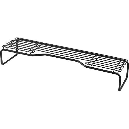 【BLKP】 パール金属 コンロ奥 ラック 幅60cm 限定 ブラック 排気口上 キッチン 収納 BLKP 黒 AZ-5054
