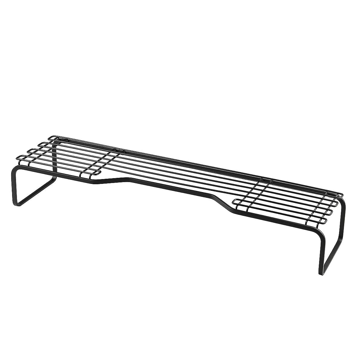 センチメートル誇張するドライパール金属 コンロ奥ラック ブラック 幅60cm 排気口上 キッチン 収納 BLKP AZ-5054