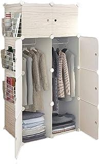 Garde-robe XINYALAMP Chambre Armoire Armoire Armoire Armoire Portable Résine Résine Modular Storage Cabinet Combinaison Li...
