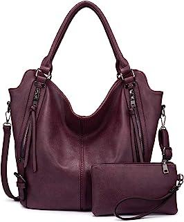 حقيبة حمل للنساء بو الجلود حقائب الكتف أزياء هوبو حقائب كبيرة وحقائب اليد مع حزام كتف قابل للتعديل