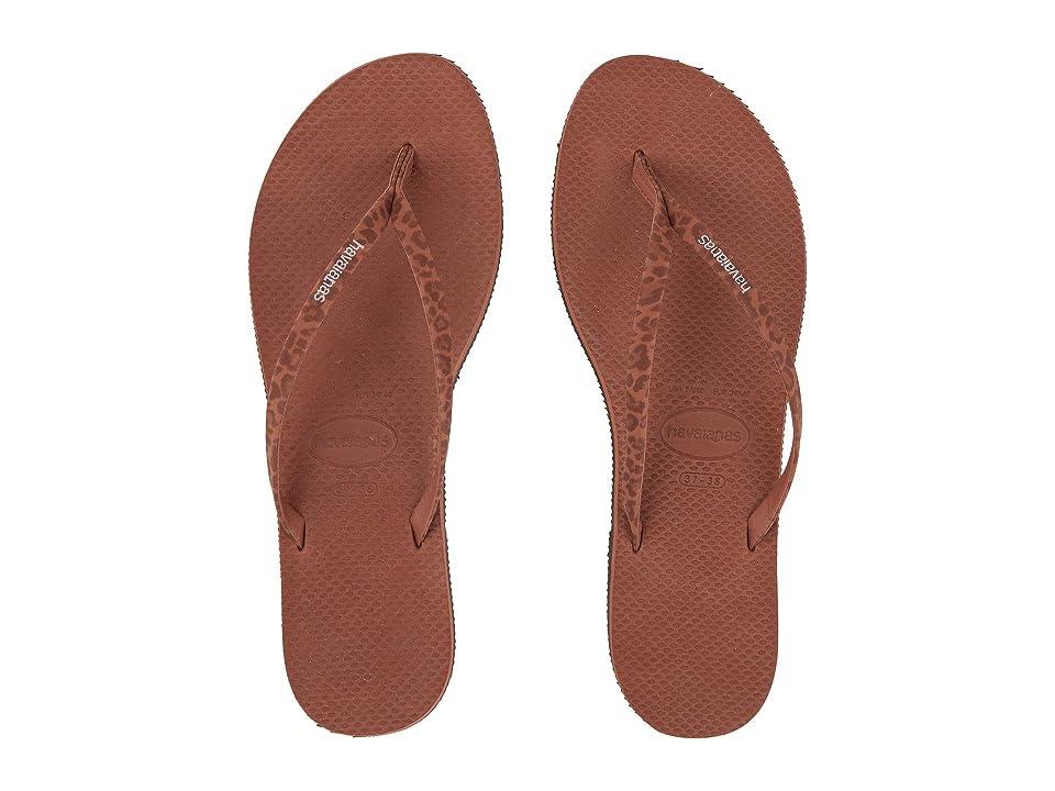 Havaianas You Animals Flip-Flops (Rust) Women