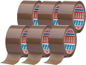 tesaPack 64014 in verpakking van 6 - geluidsarm pakketplakband voor het verpakken van pakketten en verzenddozen - bruin - ...