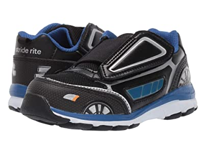 Stride Rite Vroomz Crusier Chase (Toddler) (Black/Blue) Boys Shoes