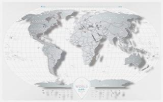 Travel Map World (Air) トラベルマップ ワールド エアー スクラッチ世界地図 透明 プラスチック 旅行 ポスター 60×96cm