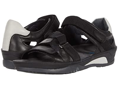 Wolky Ripple (Black Vegi Leather) Women