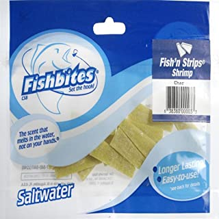 Fishbites Fish'n Strips Chartreuse Bait - Shrimp For Saltwater Fishing