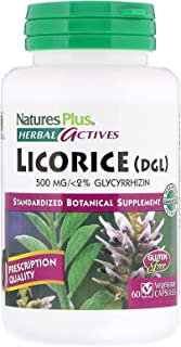 Nature's Plus, Herbal Actives, Licorice (DGL), 500 mg, 60 Vegetarian Capsules