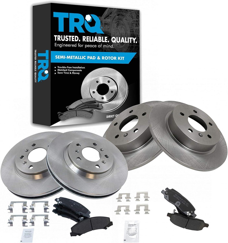 Front Rear Brake Rotor Premium Posi fo Pad New Orleans Mall Set Ranking TOP3 Semi Metallic