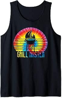 Grill Master Art | Tie Dye Pit BBQ Master Design Gift Tank Top