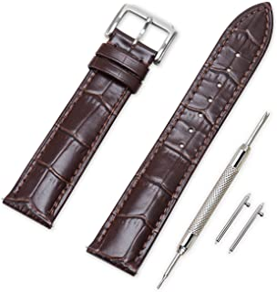 Cinturini Orologi Stile da Pilota 2 Vintage Fibbia Pieghevole pelle Nero 22 MM