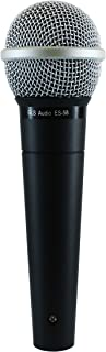 GLS Audio Vocal Microphone ES-58 & Mic Clip - Professional Series ES58 Dynamic Cardioid Mike Unidirectional (No On/Off Switch)