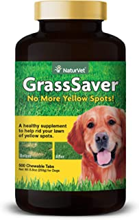 NaturVet – GrassSaver Supplement for Dogs – Healthy Supplement to Help Rid Your Lawn of Yellow Spots – Synergistic Combina...